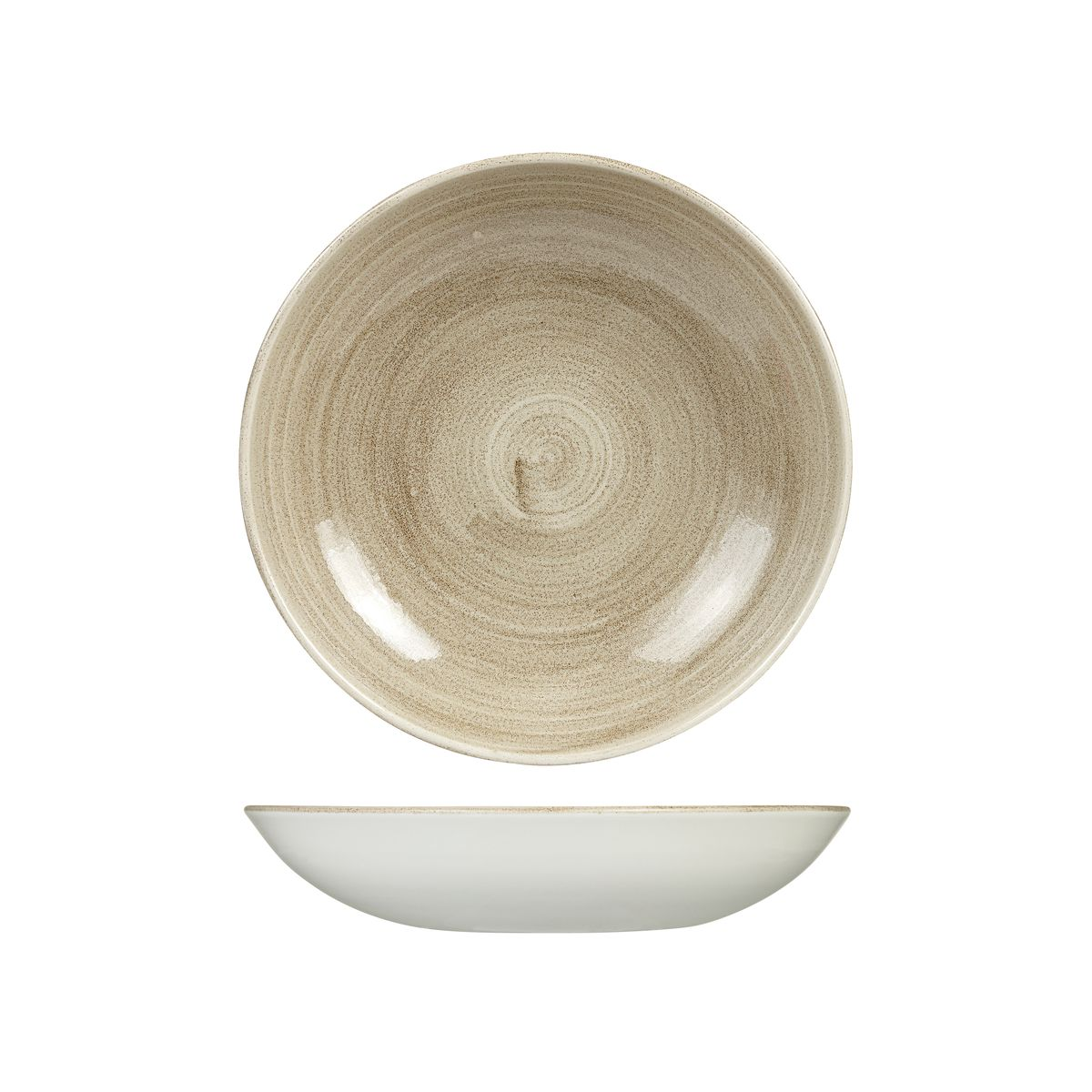 Trenton international patina round coupe bowl for Cuisine complete taupe