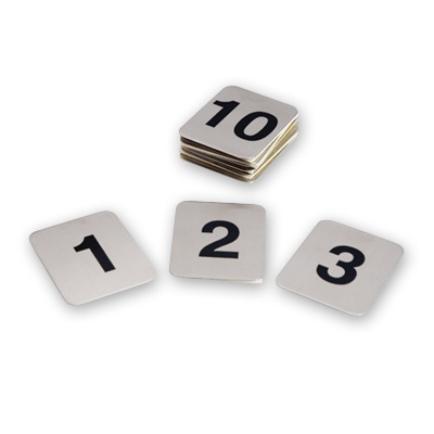 Flat Adhesive Table Numbers