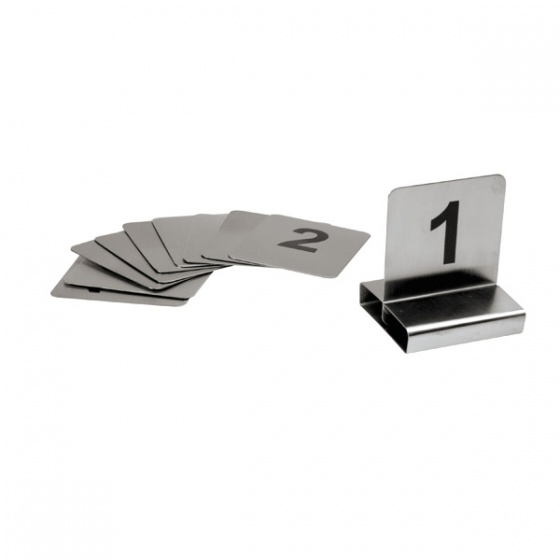 Trenton International Table Number Holder Small Numbers - Stainless steel table numbers