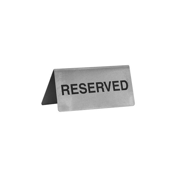 trenton international reserved a frame table sign